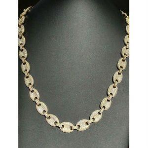 Men's Mariner Gucci Link Chain ICY Lab Diamond 14k